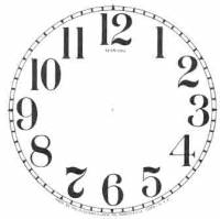 "Paper Dials - Paper Dials - With trademarks - SHIPLEY-12 - 4-1/2"" Sessions Arabic Ivory Dial"