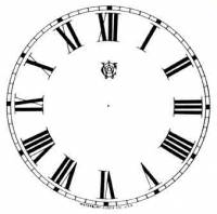 """Paper Dials - Paper Dials - With trademarks - SHIPLEY-12 - 4-1/2"""" Waterbury Roman Ivory Dial"""