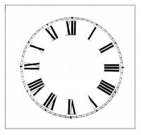 """Paper Dials - Paper Dials - With trademarks - Timesaver - 4-1/2"""" Roman Plain Ivory Dial"""