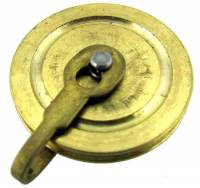 """Clock Repair & Replacement Parts - Weight Pulleys, Pulley Covers, S-Hooks, etc. - Seth Thomas 1"""" #2, #77 MvmtPulley -"""