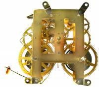 Movements, Motors, Rotors, Fit-Ups & Related - Mechanical Movements & Related Components - 8-Day Mantel Clock Movement
