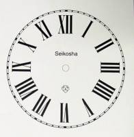 "Paper Dials - Paper Dials - With trademarks - Seikosha Peel-And-Stick 5"" Roman Dial"