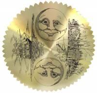 Metal Dials - Moon Dials and Discs - 168mm Moon Disc