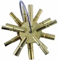 TT-19 - Brass 5-Prong Key 3-Piece Assortment American Sizes