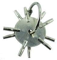 Pocket Watch Keys - Multi-Prong Pocket Watch Keys - 5-Prong Watch Key 2-Piece Assortment