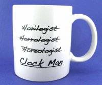 Novelty Items - Coffee Mug-Clock Man
