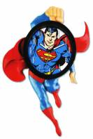 Clocks, Watches, Timers, Weather Instruments - Superman Action Hero Animated Clock