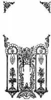 """Glass For Bezels and Doors - Kitchen Clock Glass - Ingraham KG-304 Silver Kitchen Clock Glass. Image size 5-7/8"""" x 6-1/2"""""""