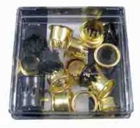 Fasteners - Grommets - Brass 24-Piece Grommet Assortment
