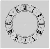 "Clearance Items - 4-1/4"" White Fancy Paper Dial"
