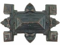 "Case Parts - Decorative Appliques - Resin Rectangular Badge Applique  3-1/2"" x 2-1/2"""