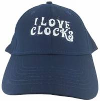 Novelty Items - Hats - I Love Clocks Hat - Navy