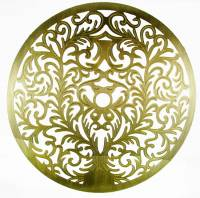 """Dials & Related - Dial Related Items - 5-7/16"""" Etched Brass Finish Dial Mask"""