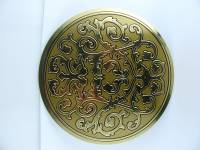 """Dials & Related - Dial Related Items - 5-3/4"""" Etched Brass Finish Dial Mask"""