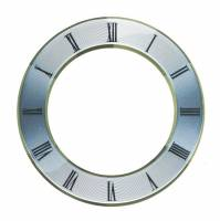 "Dials & Related - Dial Related Items (Chapter & Time Rings, Dial Cutters, Dial Screws, Enamel, Arbors, etc.) - Silver Finish Dial Chapter Ring  5"" OD x 3-3/8"" ID"