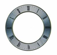 """Dials & Related - Dial Related Items - Silver Dial Chapter Ring  5"""" OD x 3-3/8"""" ID"""