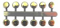 "Numeral Sets, Minute  & Hour Markers, Bar & Dot Sets - Dots & Bar Sets - VO-12 - 3/8"" Gold Plastic Dots"