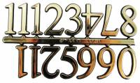 "Dials & Related - Numeral Sets - VO-12 - 1"" Gold Plastic Arabic Numbers"