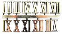 "VO-12 - 5/8"" Gold Plastic Roman Numerals"
