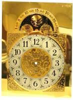 "Clock Repair & Replacement Parts - Dials & Related - Arabic Numeral Moon Phase Dial With 8-7/8"" Time Track"