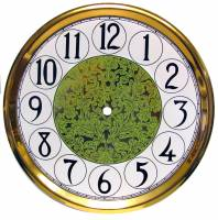 "Clock Repair & Replacement Parts - Dials & Related - 10-11/16"" Fancy Arabic Dial/Pan Combo With 9"" Time Track"