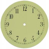 """Clock Repair & Replacement Parts - Dials & Related - 8-1/2"""" Arabic Ivory Dial With 7-3/4"""" Time Track"""